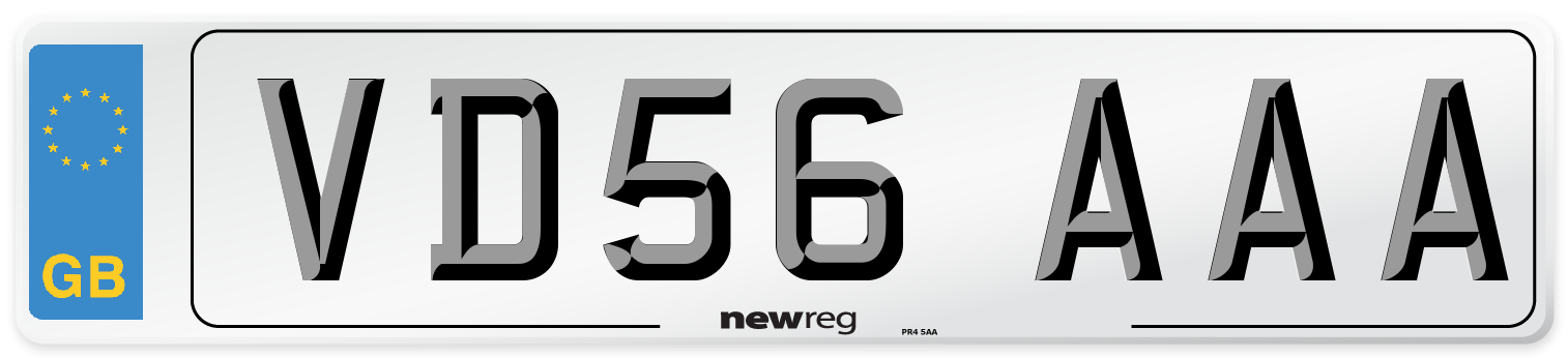 VD56 AAA Number Plate from New Reg