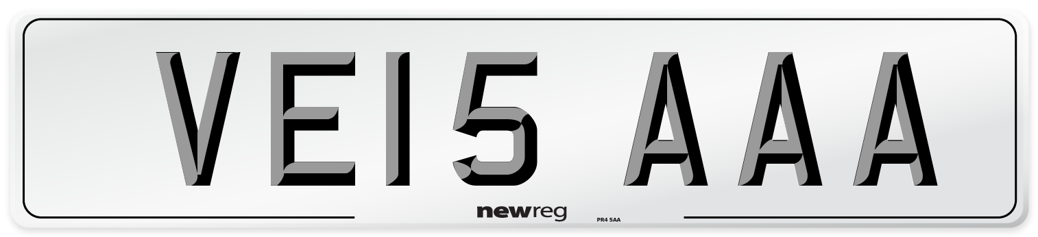 VE15 AAA Number Plate from New Reg