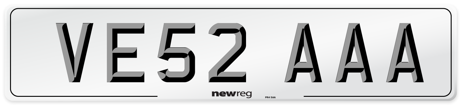 VE52 AAA Number Plate from New Reg