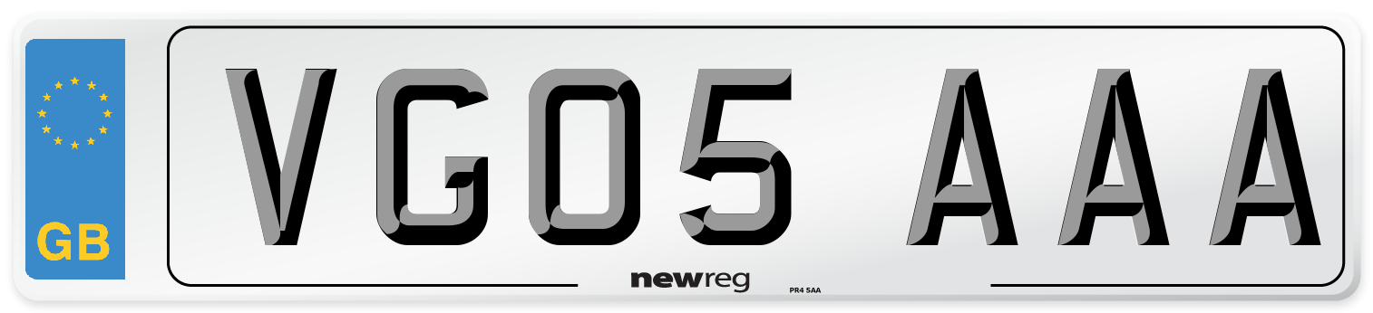 VG05 AAA Number Plate from New Reg