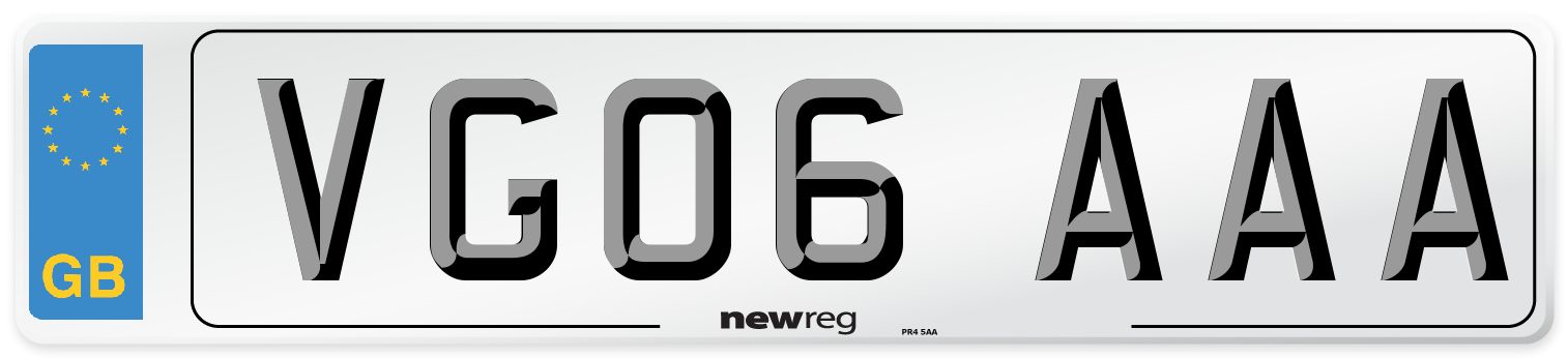 VG06 AAA Number Plate from New Reg