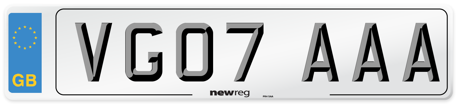 VG07 AAA Number Plate from New Reg