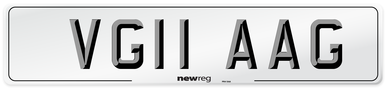 VG11 AAG Number Plate from New Reg