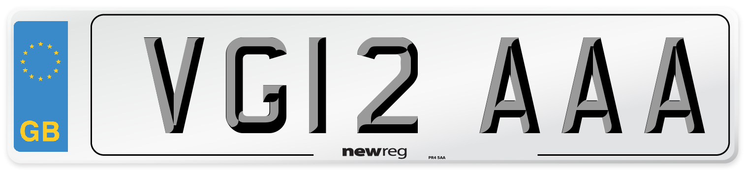 VG12 AAA Number Plate from New Reg