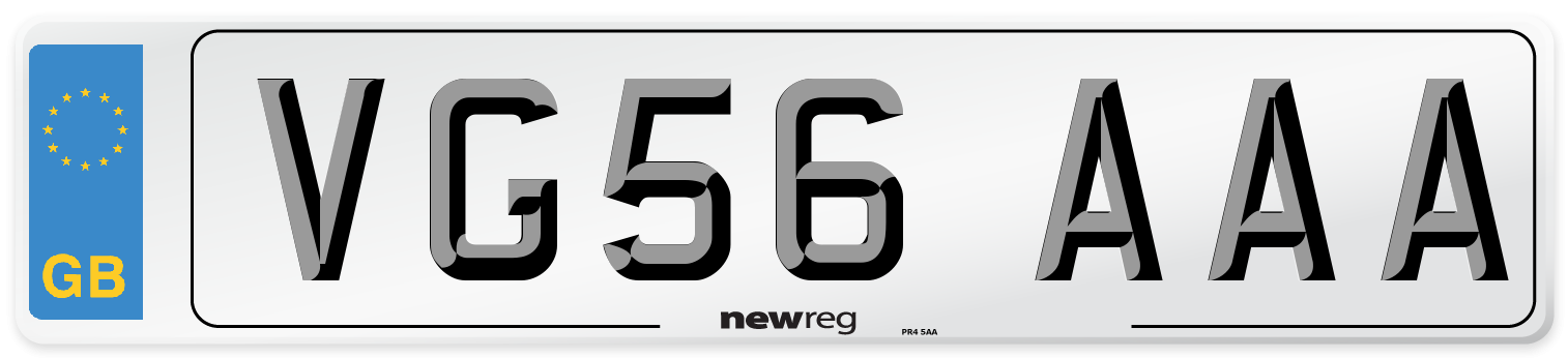 VG56 AAA Number Plate from New Reg