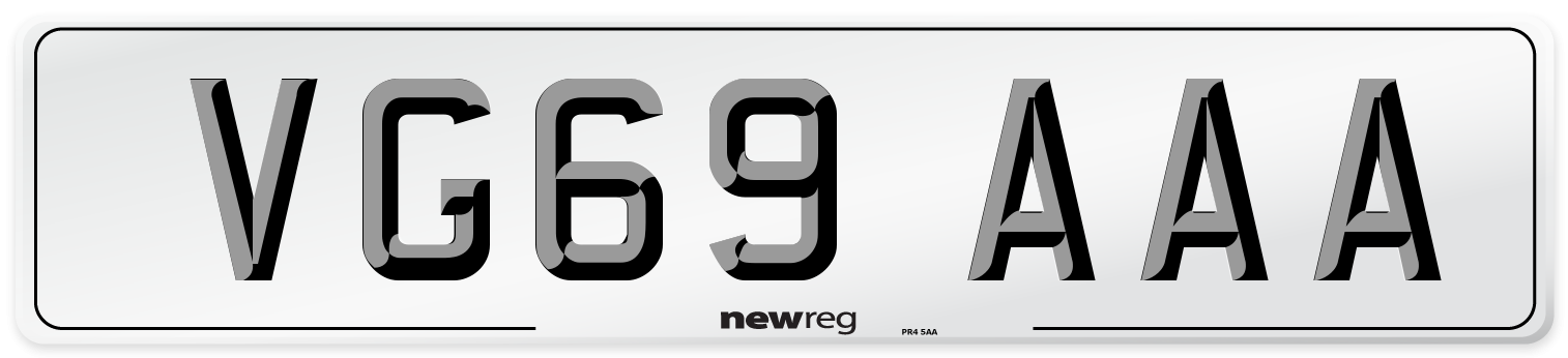 VG69 AAA Number Plate from New Reg