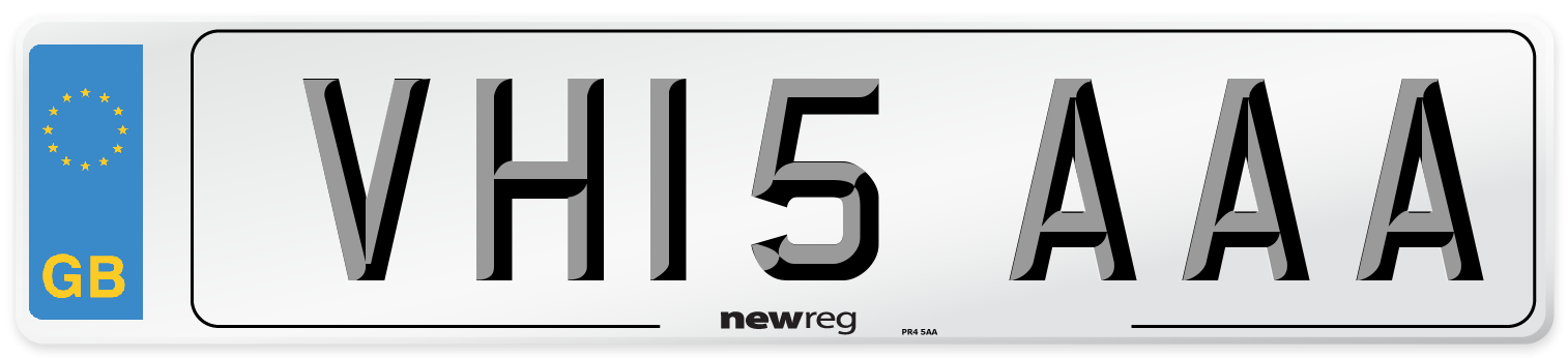 VH15 AAA Number Plate from New Reg