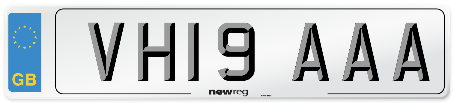 VH19 AAA Number Plate from New Reg