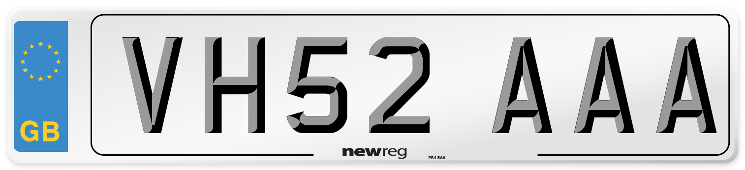VH52 AAA Number Plate from New Reg