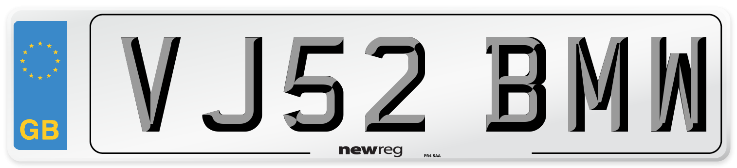 VJ52 BMW Number Plate from New Reg