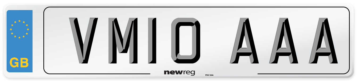 VM10 AAA Number Plate from New Reg