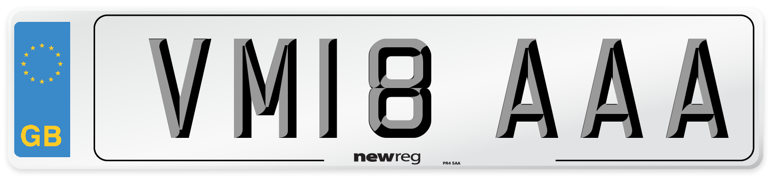 VM18 AAA Number Plate from New Reg