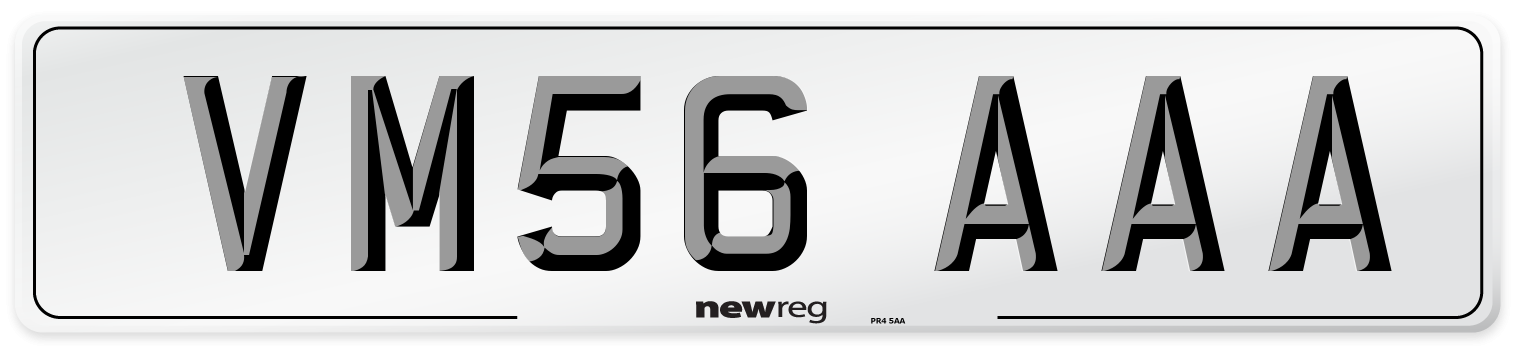 VM56 AAA Number Plate from New Reg