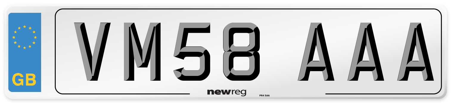 VM58 AAA Number Plate from New Reg