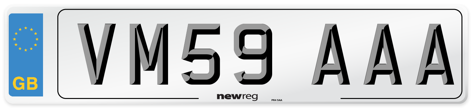 VM59 AAA Number Plate from New Reg