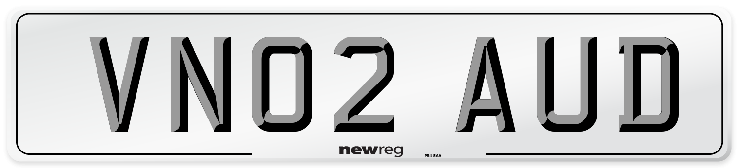 VN02 AUD Number Plate from New Reg