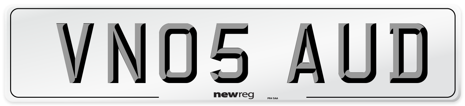 VN05 AUD Number Plate from New Reg