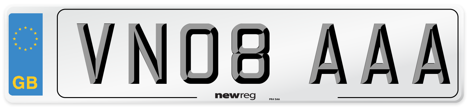 VN08 AAA Number Plate from New Reg