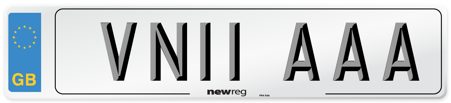 VN11 AAA Number Plate from New Reg