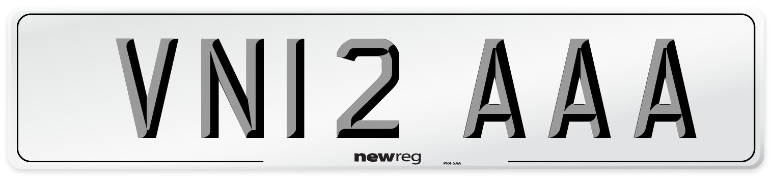 VN12 AAA Number Plate from New Reg