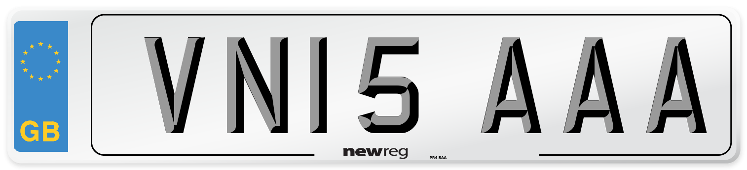 VN15 AAA Number Plate from New Reg