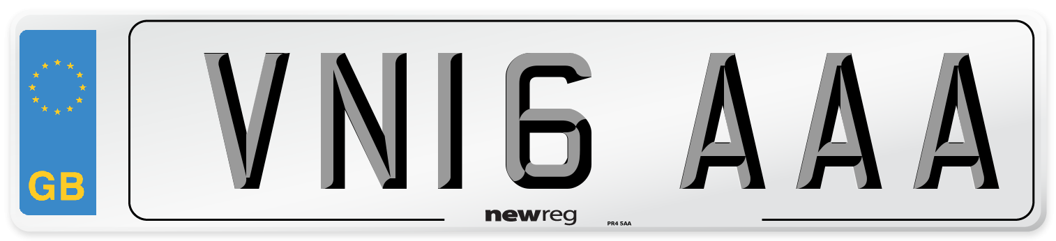 VN16 AAA Number Plate from New Reg