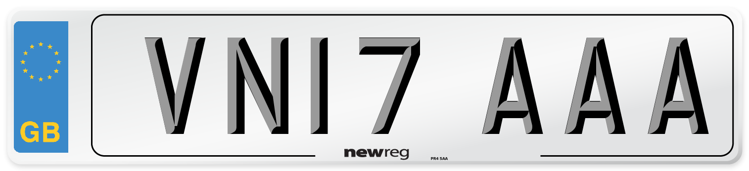 VN17 AAA Number Plate from New Reg