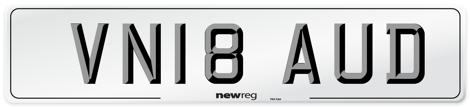 VN18 AUD Number Plate from New Reg