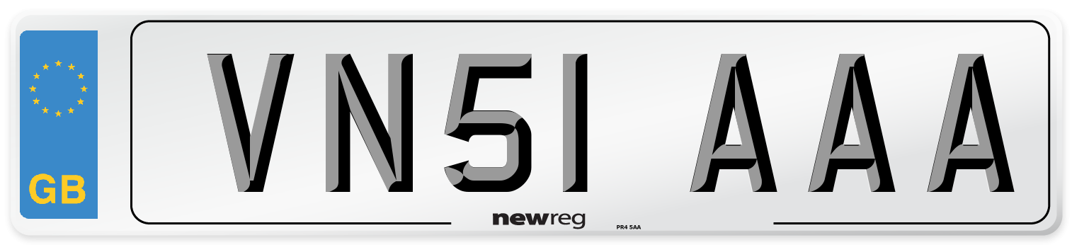 VN51 AAA Number Plate from New Reg