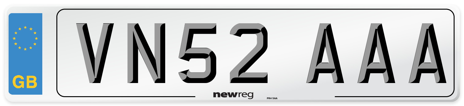 VN52 AAA Number Plate from New Reg
