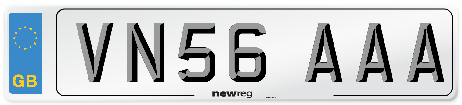 VN56 AAA Number Plate from New Reg