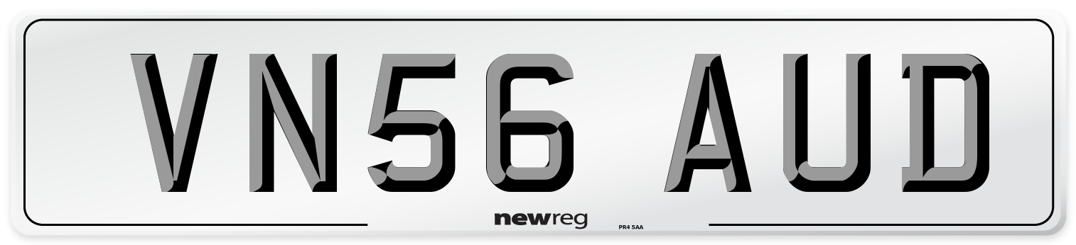 VN56 AUD Number Plate from New Reg