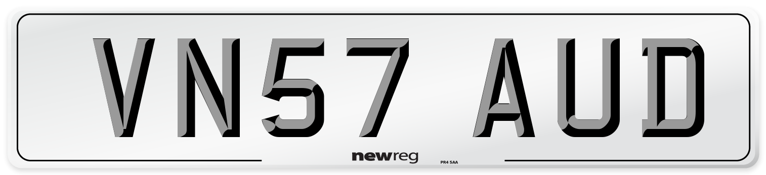 VN57 AUD Number Plate from New Reg