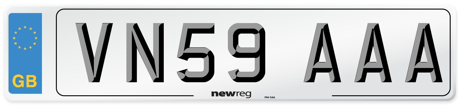 VN59 AAA Number Plate from New Reg
