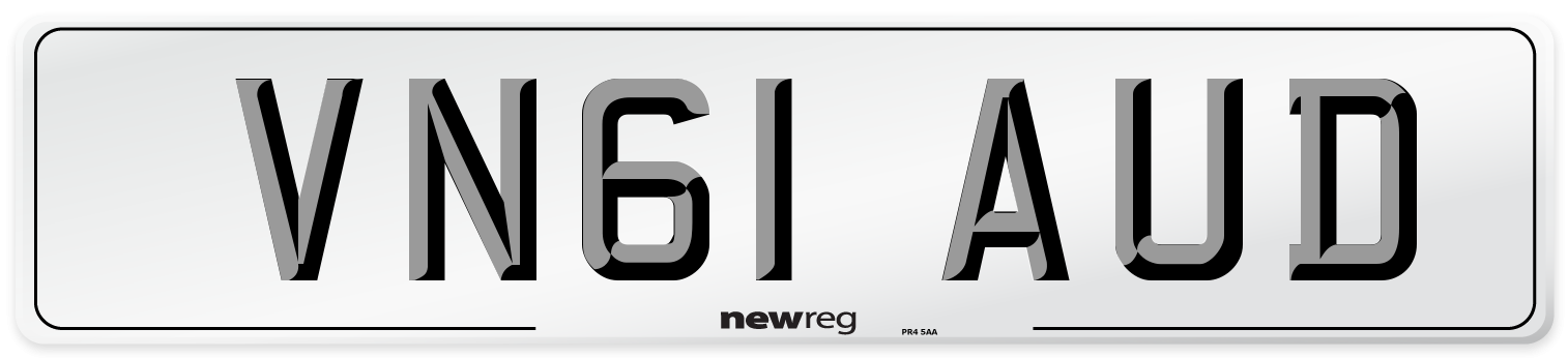 VN61 AUD Number Plate from New Reg