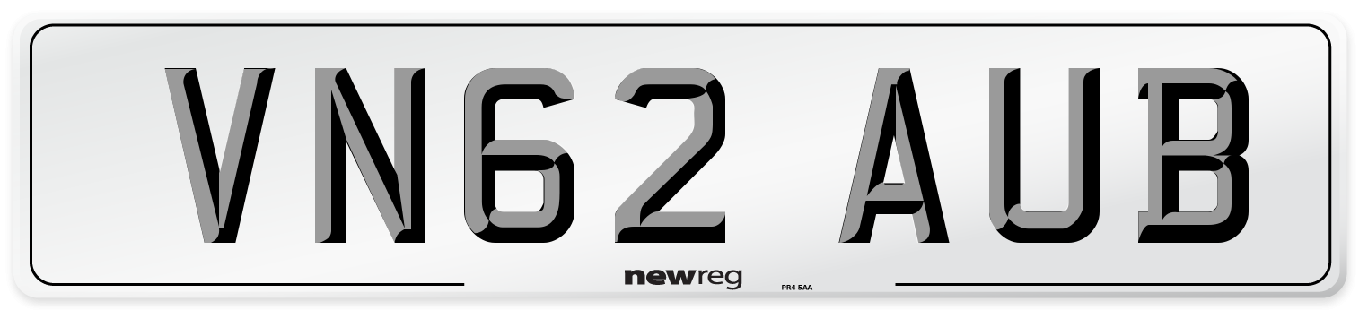 VN62 AUB Number Plate from New Reg