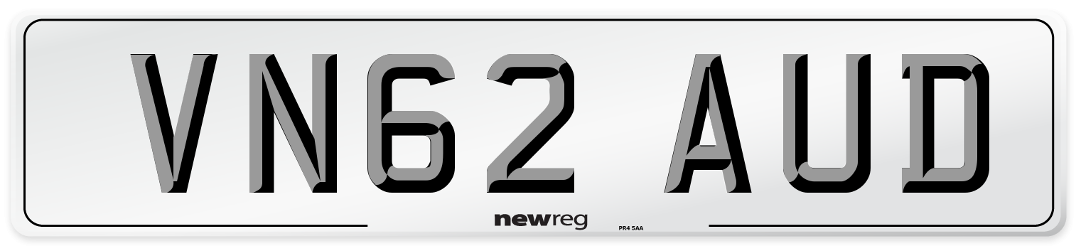 VN62 AUD Number Plate from New Reg