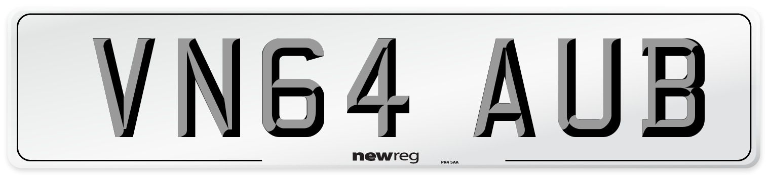 VN64 AUB Number Plate from New Reg