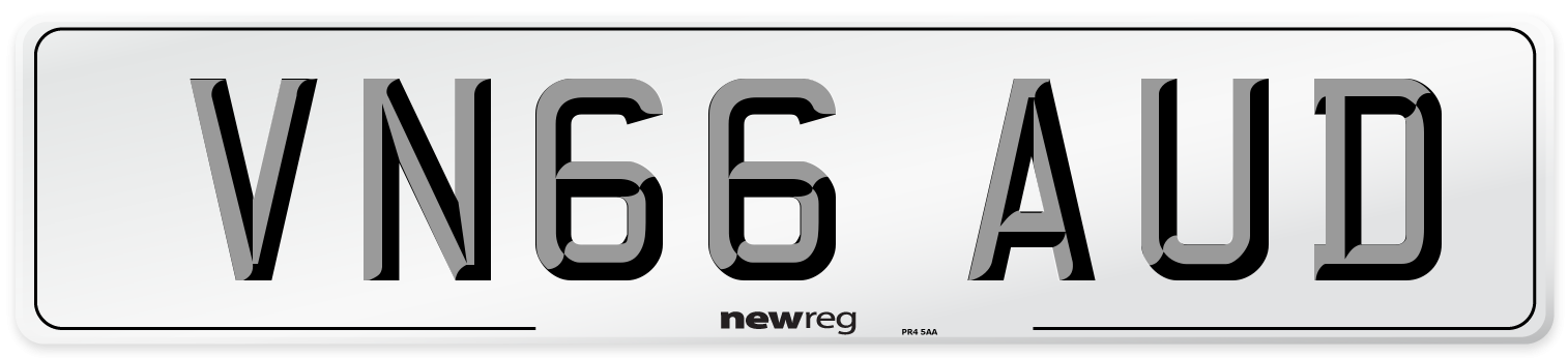 VN66 AUD Number Plate from New Reg