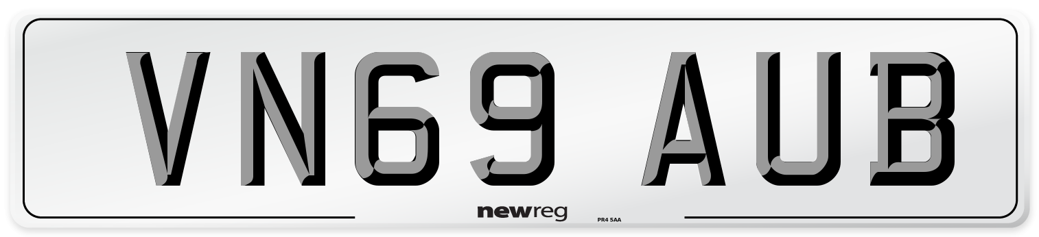 VN69 AUB Number Plate from New Reg