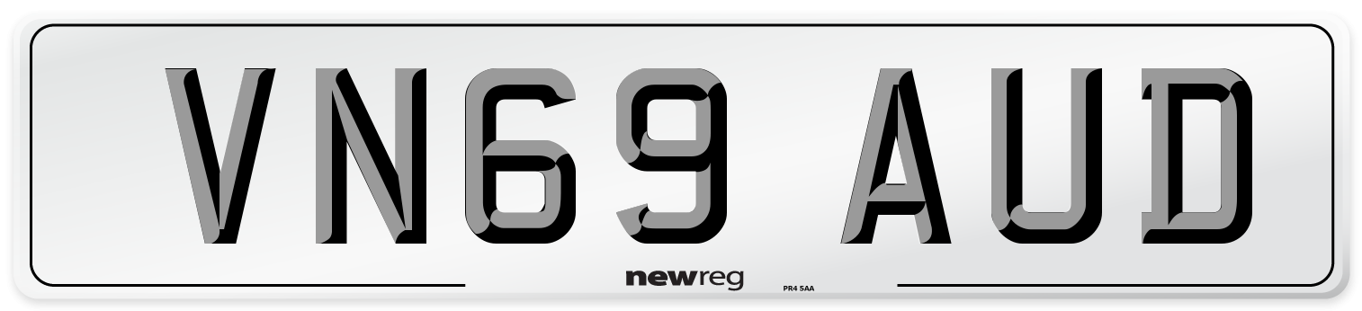 VN69 AUD Number Plate from New Reg
