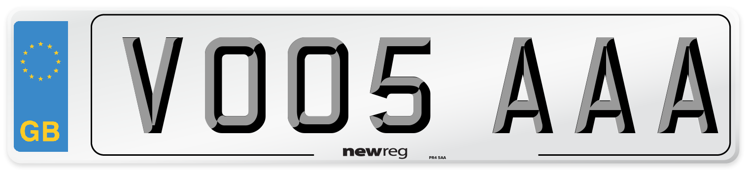 VO05 AAA Number Plate from New Reg
