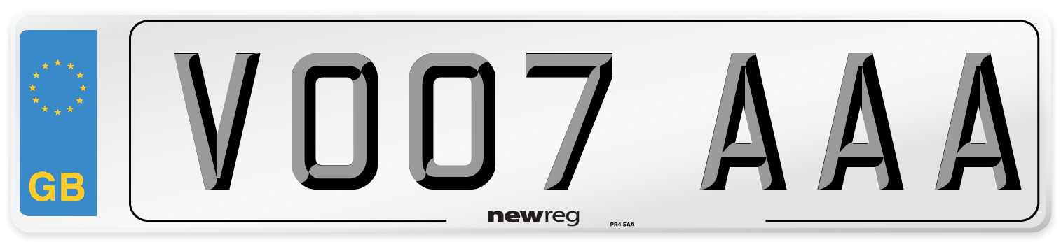 VO07 AAA Number Plate from New Reg
