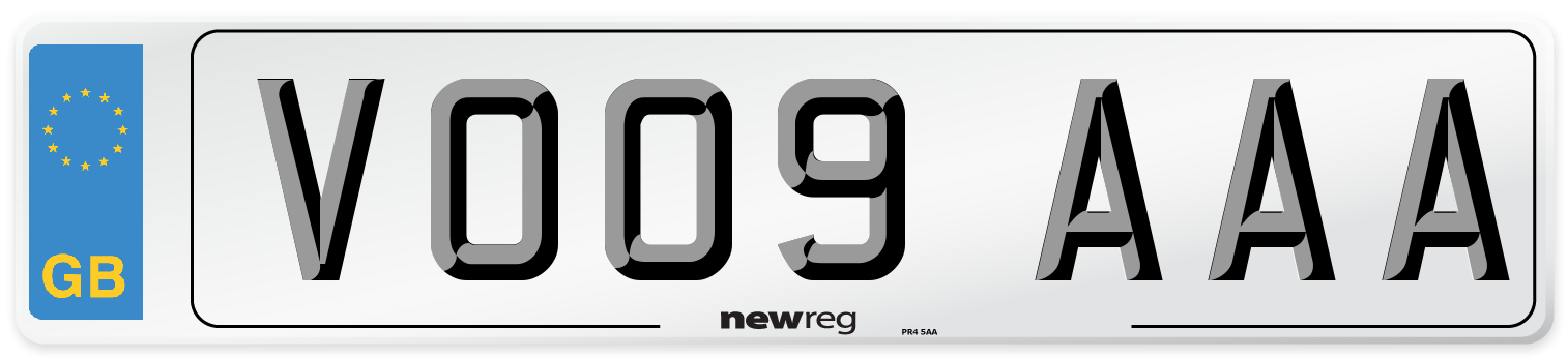 VO09 AAA Number Plate from New Reg