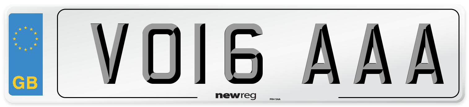 VO16 AAA Number Plate from New Reg