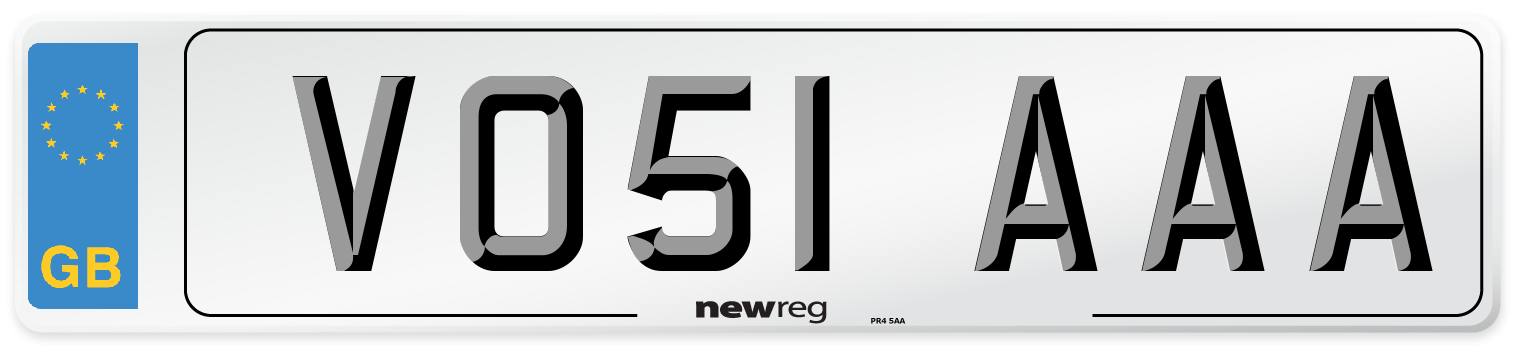 VO51 AAA Number Plate from New Reg