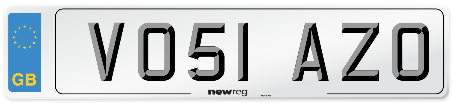 VO51 AZO Number Plate from New Reg