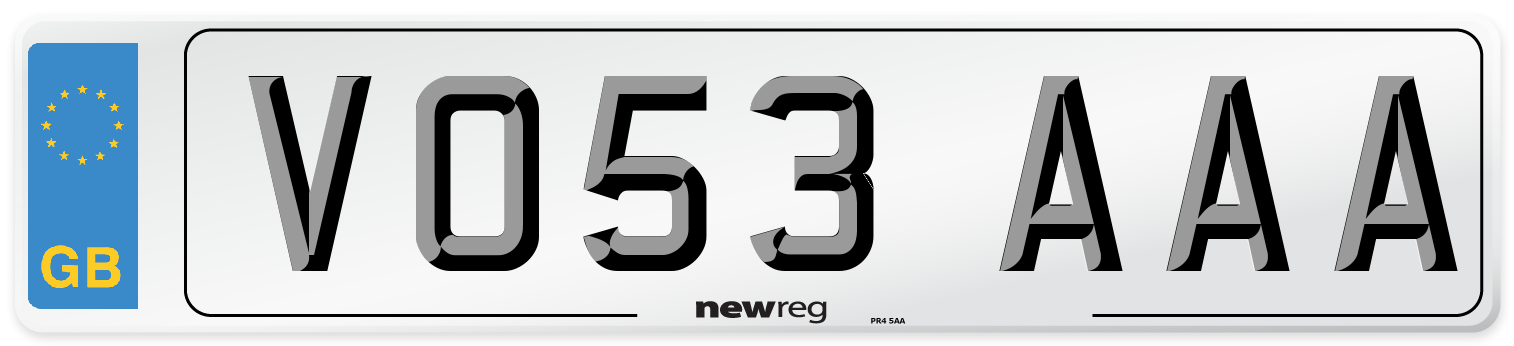 VO53 AAA Number Plate from New Reg