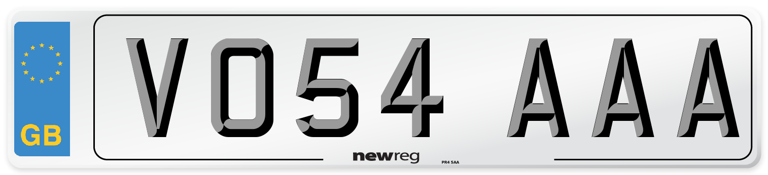 VO54 AAA Number Plate from New Reg
