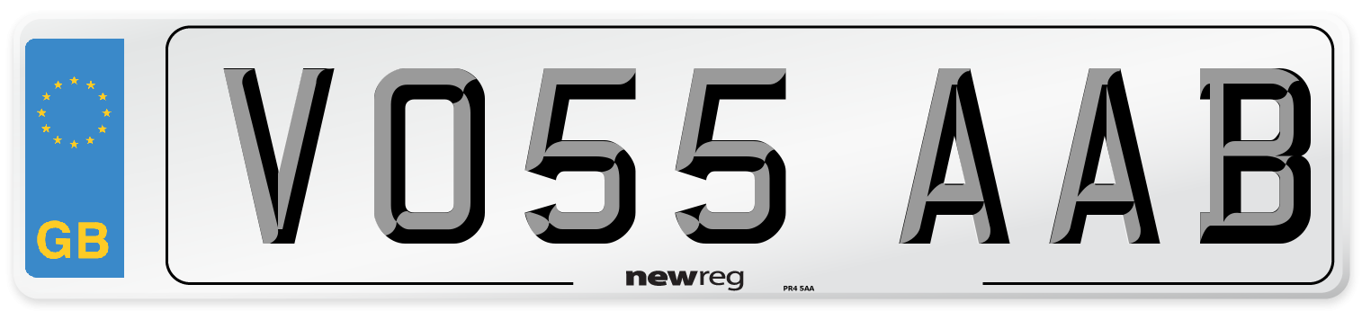 VO55 AAB Number Plate from New Reg